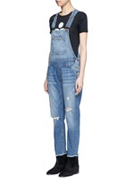 'The Charley' distressed denim overalls