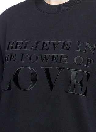 Givenchy - 'Power of Love' embroidered slogan sweatshirt