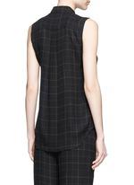 'Yarine' tile print silk sleeveless shirt