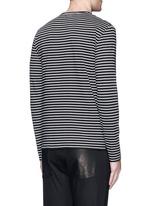Optic skull print stripe jersey T-shirt