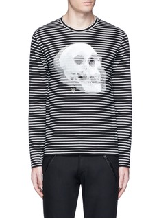 Alexander McQueenOptic skull print stripe jersey T-shirt