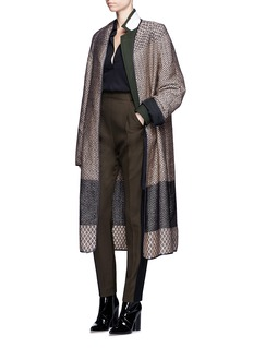 Haider Ackermann'O'Hara' folklore motif brocade coat