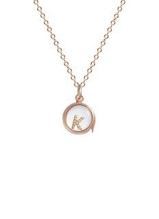 Loquet London14k rose gold rock crystal round locket – Small 12mm