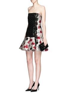 LANVINSequin handbag jacquard flare dress