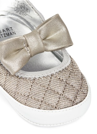 Detail View - Click To Enlarge - Stuart Weitzman - 'Baby Layla' quilted glitter infant ballerinas