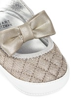 'Baby Layla' quilted glitter infant ballerinas