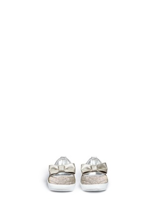 Figure View - Click To Enlarge - Stuart Weitzman - 'Baby Layla' quilted glitter infant ballerinas