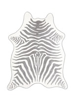 Zebra stripe jacquard beach towel and leather backpack carrier set