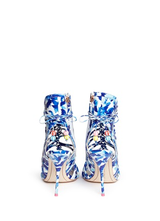 Back View - Click To Enlarge - Sophia Webster - 'Lacey Oceana' print leather caged sandals