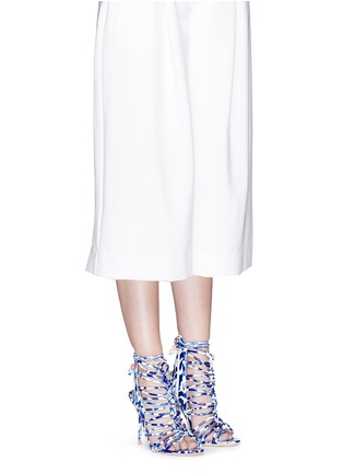Figure View - Click To Enlarge - Sophia Webster - 'Lacey Oceana' print leather caged sandals
