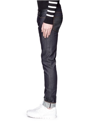 Detail View - Click To Enlarge - 3x1 - 'M5' raw denim slim fit jeans
