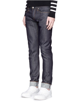 Front View - Click To Enlarge - 3x1 - 'M5' raw denim slim fit jeans