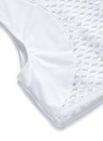 'Cara' mesh back cropped rash guard