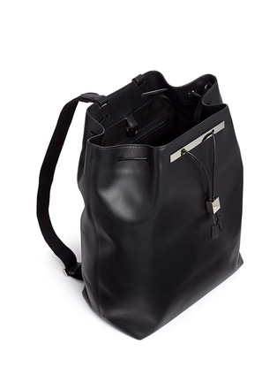 Detail View - Click To Enlarge - The Row - 'Backpack 11' leather drawstring backpack