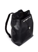 'Backpack 11' leather drawstring backpack
