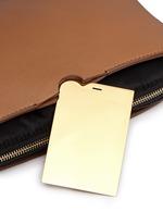 'Multi-pouch' leather nylon shoulder bag