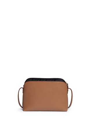 Back View - Click To Enlarge - The Row - 'Multi-pouch' leather nylon shoulder bag