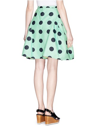 Back View - Click To Enlarge - Chictopia - Polka dot print ruche flare skirt