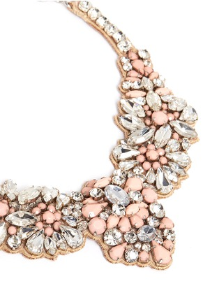 Detail View - Click To Enlarge - Valentino - Satin back opal strass necklace