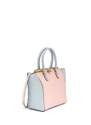 Figure View - Click To Enlarge - Valentino - 'Rockstud' medium pastel leather tote
