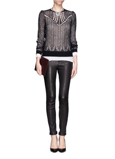 ALEXANDER MCQUEEN Wool-silk open knit top