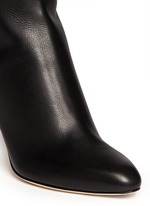 'Grand' grainy calf leather boots