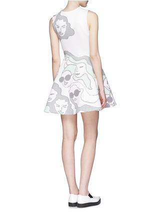 Back View - Click To Enlarge - Opening Ceremony - 'ASCII Girls' neoprene flare dress