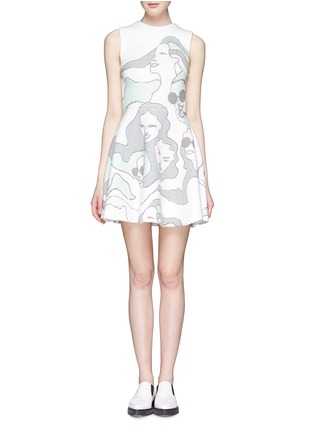 Main View - Click To Enlarge - Opening Ceremony - 'ASCII Girls' neoprene flare dress
