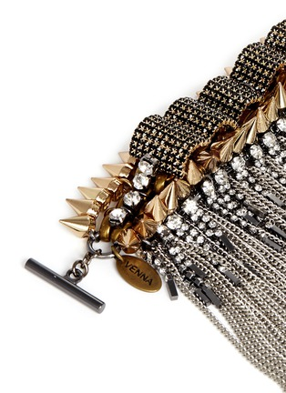 Detail View - Click To Enlarge - Venna - Spike edge metal fringe cuff