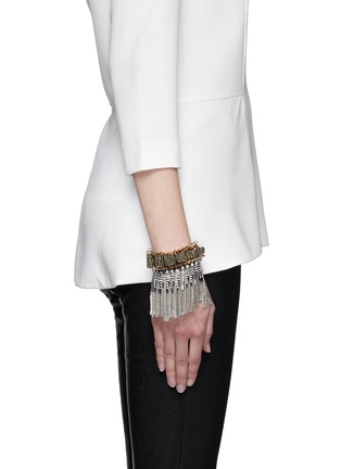 Figure View - Click To Enlarge - Venna - Spike edge metal fringe cuff