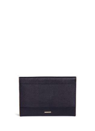 Detail View - Click To Enlarge - Rebecca Minkoff - 'Leo' saffiano leather envelope clutch