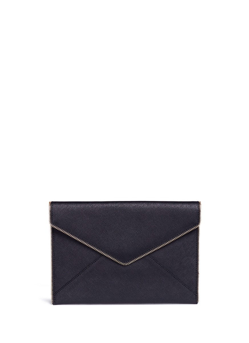 Leo saffiano leather envelope clutch by Rebecca Minkoff