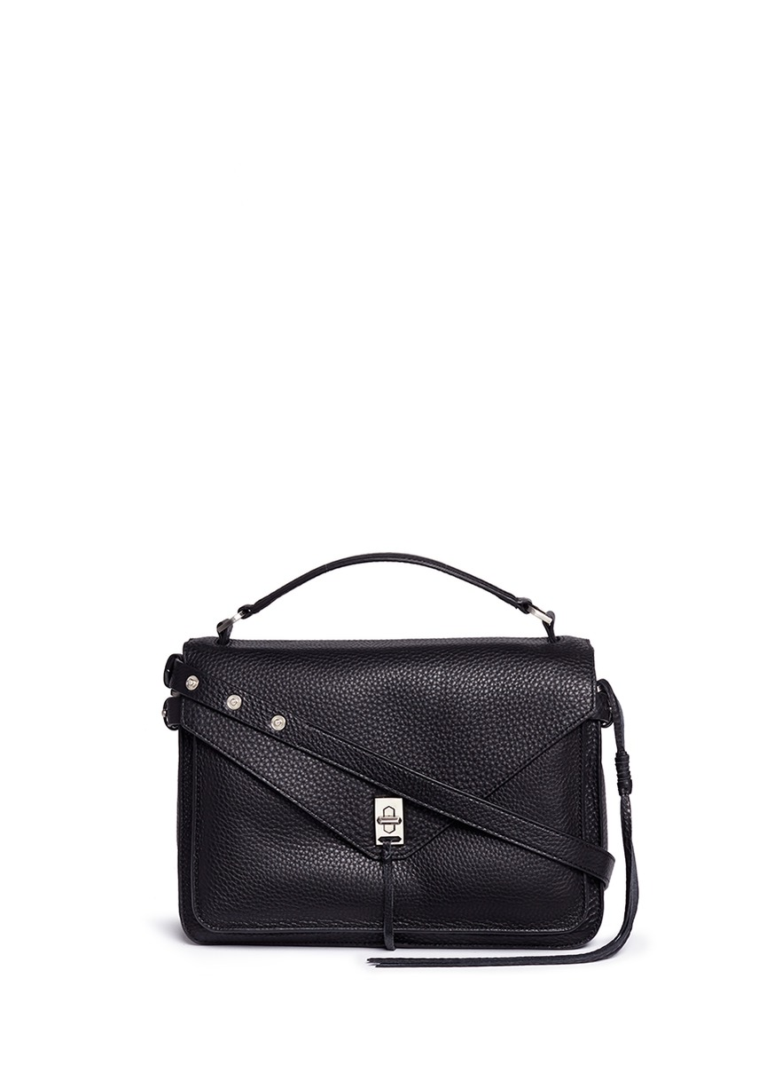 Darren pebbled leather messenger satchel by Rebecca Minkoff
