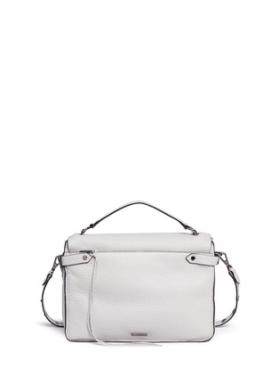 Detail View - Click To Enlarge - Rebecca Minkoff - 'Darren' pebbled leather messenger satchel