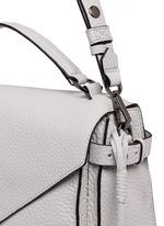 'Darren' pebbled leather messenger satchel