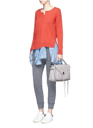 Front View - Click To Enlarge - Rebecca Minkoff - 'Darren' pebbled leather messenger satchel
