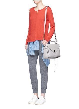 Figure View - Click To Enlarge - Rebecca Minkoff - 'Darren' pebbled leather messenger satchel