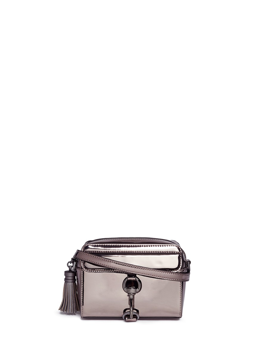 M.A.B mirror leather camera bag by Rebecca Minkoff