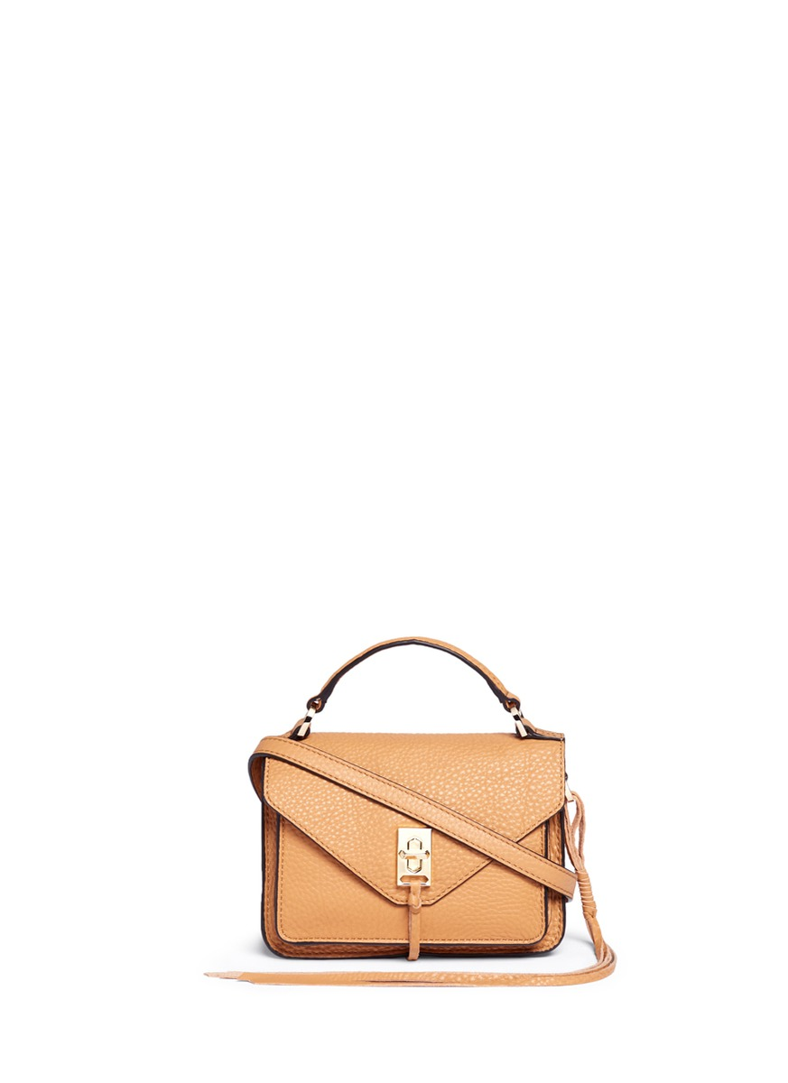 Darren mini pebbled leather messenger satchel by Rebecca Minkoff