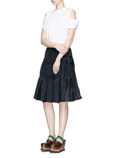 TOGA ARCHIVESBelted side plissé pleated taffeta skirt
