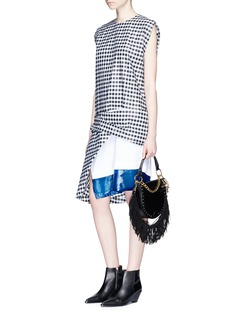 TOGA ARCHIVES Layered contrast hem gingham check dress