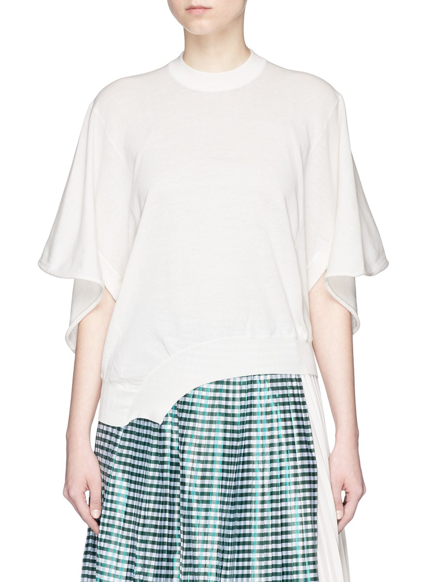 Asymmetric hem high gauge knit sweater by TOGA ARCHIVES