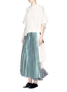 TOGA ARCHIVES Gingham check pleated wrap skirt