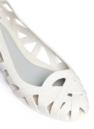 Detail View - Click To Enlarge - Melissa - x Jason Wu 'Jean' ribbon effect cutout PVC flats