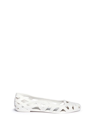 Main View - Click To Enlarge - Melissa - x Jason Wu 'Jean' ribbon effect cutout PVC flats