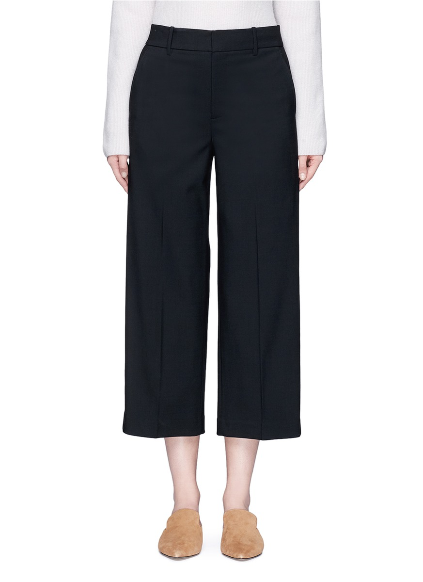 Wool tailored suiting culottes by Vince