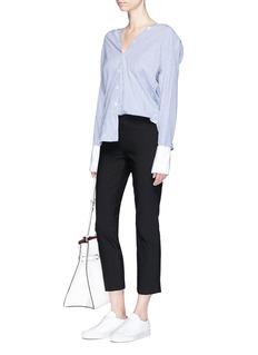 VinceStitched front seam elastic waist pants