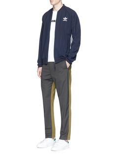 Adidas'Superstar' pinstripe logo print track jacket