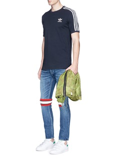 Adidas Embroidered Trefoil logo 3-Stripes T-shirt