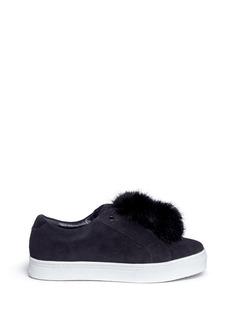 Sam Edelman'Leya' faux fur pompom suede slip-on sneakers